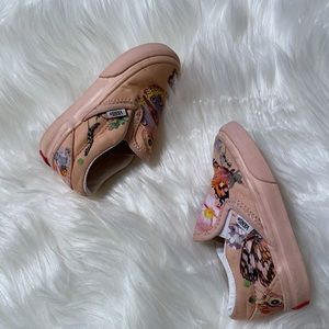 Pink/multi color butterfly Vans toddler size 5